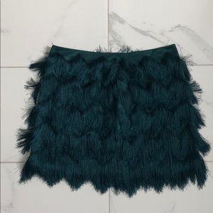 H&M fringe mini skirt